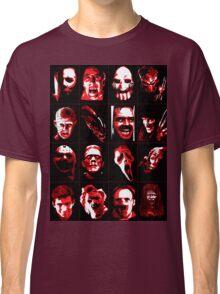 Horror Movie Icons Vector Art Classic T-Shirt