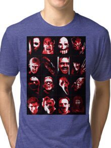Horror Movie Icons Vector Art Tri-blend T-Shirt