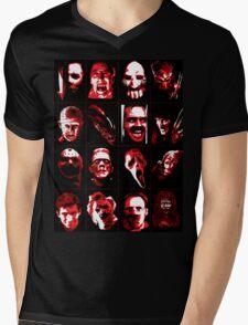Horror Movie Icons Vector Art Mens V-Neck T-Shirt