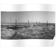 Burnham-on-Sea estuary in infrared. Poster