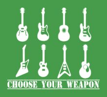 Choose Your Weapon Guitar One Piece - Short Sleeve
