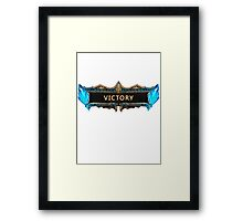 Victory League of Legends Framed Print