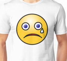 Crying Cry Sad Emoji Emoticon Smiley Face T Shirt Unisex T-Shirt