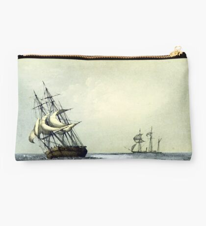 """The """"Resolute"""" Under Sail For The Last Time (1853) Studio Pouch"""