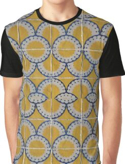 Yellow Flower Tile Graphic T-Shirt