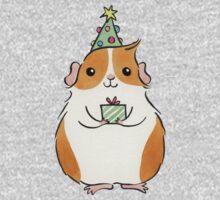 Cute Fluffy Christmas Guinea-pig One Piece - Long Sleeve