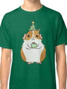 Cute Fluffy Christmas Guinea-pig Classic T-Shirt