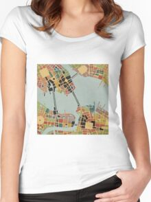 cipher n. 8  (original sold) Women's Fitted Scoop T-Shirt