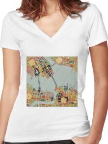 cipher n. 8  (original sold) Women's Fitted V-Neck T-Shirt