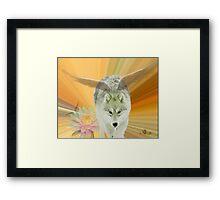 FOR THE LOVE OF WOLVES Framed Print