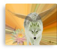 FOR THE LOVE OF WOLVES Canvas Print