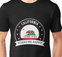 California Makes Me Happy Unisex T-Shirt