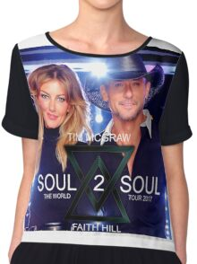 TIM McGraw & FAITH HILL TOUR 2017 - limited edition cover #a Chiffon Top