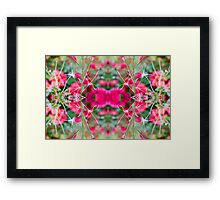 Pink Floral Fusion Kaleidoscope  Framed Print
