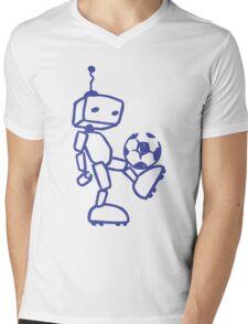 Robot soccer Mens V-Neck T-Shirt