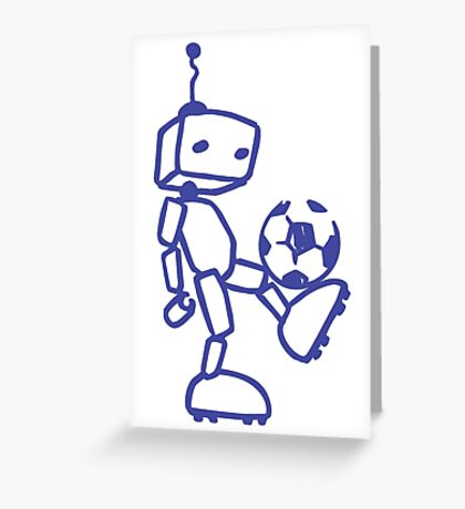 Robot soccer Greeting Card