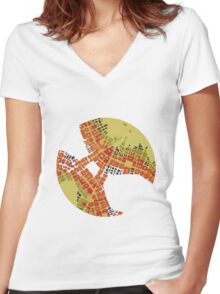 cipher n. 3  (original sold) Women's Fitted V-Neck T-Shirt