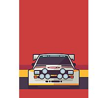 Audi Sport Quattro S1 - HB Livery (Stripe Red) Photographic Print