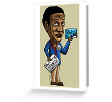 Bill Cosby Charicature Greeting Card