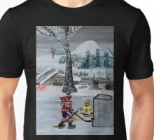 Kids playing hockey Unisex T-Shirt