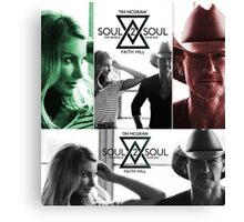 top seller TIM McGraw & FAITH HILL TOUR 2017 Canvas Print