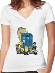 Doc Minion 12 and Chums Women's Fitted V-Neck T-Shirt