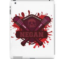 """Walking Dead Negan Blood Splatter  """"I'm gonna beat the Holy H*** Outa One Of You"""" iPad Case/Skin"""