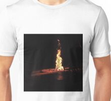 Lonely Chairs by a Fire on Gili Trawangan Unisex T-Shirt