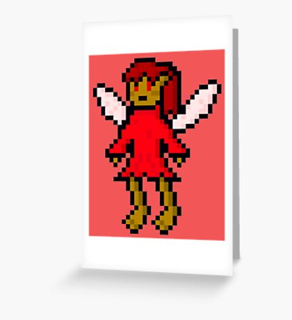 Red Fairy Greeting Card