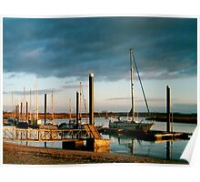 Evening light, Burnham and Highbridge estuary. Poster