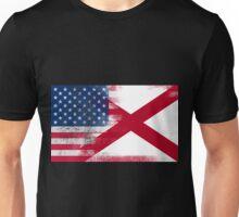 Alabama American Flag Fusion Unisex T-Shirt