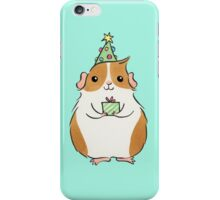 Cute Fluffy Christmas Guinea-pig iPhone Case/Skin