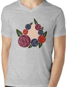 Minimal roses Mens V-Neck T-Shirt