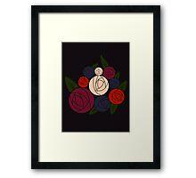 Minimal roses Framed Print