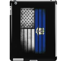 USA Vintage Connecticut State Flag iPad Case/Skin