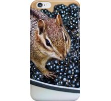 I'M ENJOYING MY BLACKBERRIES JUST MAYBE I'LL LEAVE U SOME..LOL CHIPMUNK BLACKBERRIES CARD AND OR PICTURE iPhone Case/Skin