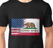 California American Flag Fusion Unisex T-Shirt