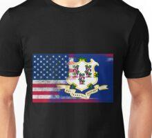 Connecticut American Flag Fusion Unisex T-Shirt