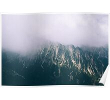 Fog over Mountains Poster