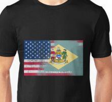 Delaware American Flag Fusion Unisex T-Shirt