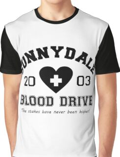 Sunnydale 2003 Blood Drive - Black Graphic T-Shirt