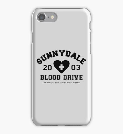 Sunnydale 2003 Blood Drive - Black iPhone Case/Skin
