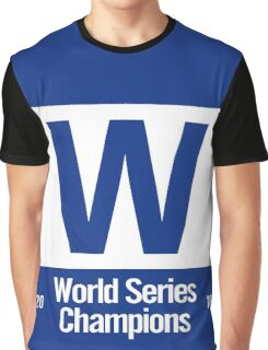Exact Cubs Blue - Chicago Cubs Majestic W Flag (World Series Edition) Graphic T-Shirt