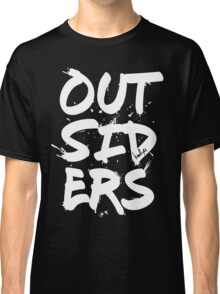 Outsiders - White Text Classic T-Shirt