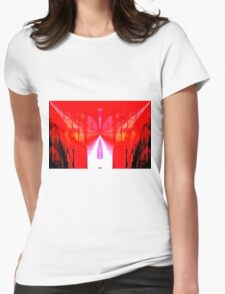 Shot To The Heart Womens Fitted T-Shirt