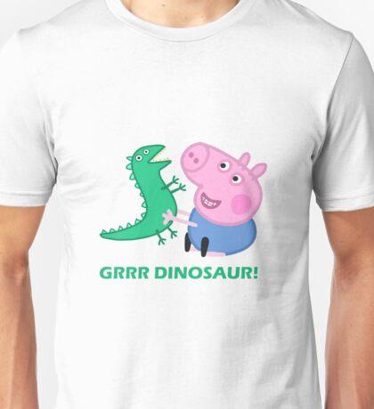 dinosaur peppa pig best friends Unisex T-Shirt