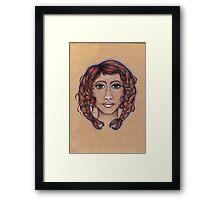 Cancer ♋️ Astrological Fantasy Portrait Framed Print