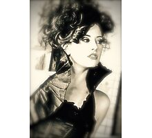 Lady in Black Photographic Print