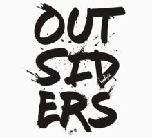 Outsiders - Black Text One Piece - Long Sleeve
