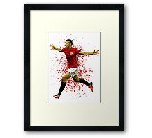 Zlatan Ibrahimovic Framed Print
